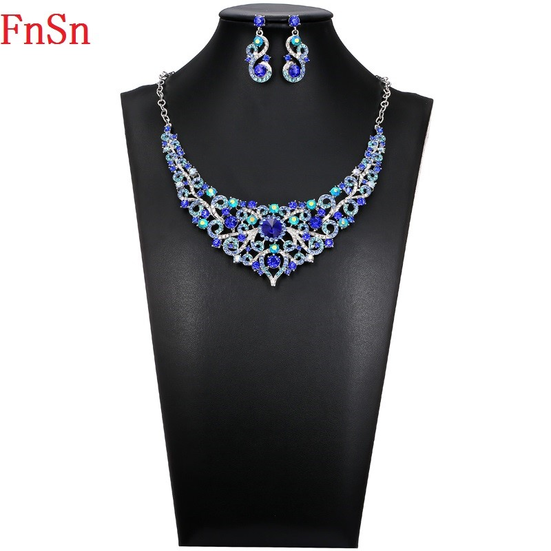 FnSn Νέα Κοσμήματα Σετ Κρίσταλ Κολιέ - Κοσμήματα μόδας - Φωτογραφία 3
