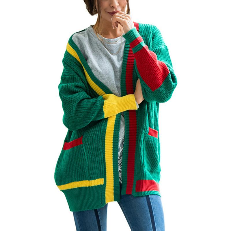 Long Cardigan Christmas Women Long Sleeve Knitted Sweater Cardigans Autumn Winter Womens Sweaters 2018 Jersey Mujer Invierno