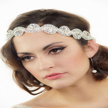 Ribbon Headbands Hairwear Rhinestone Women Tiaras Hairbands Wedding Fashion Jewelry Bride Fine Hair Accessories