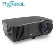 ThundeaL RD809 HD DLP Proyector 3D Beamer 3000 Lúmenes 1024*768 Home Cinema Teatro Lámpara de Mercurio de Reunión de Negocios con HDMI VGA
