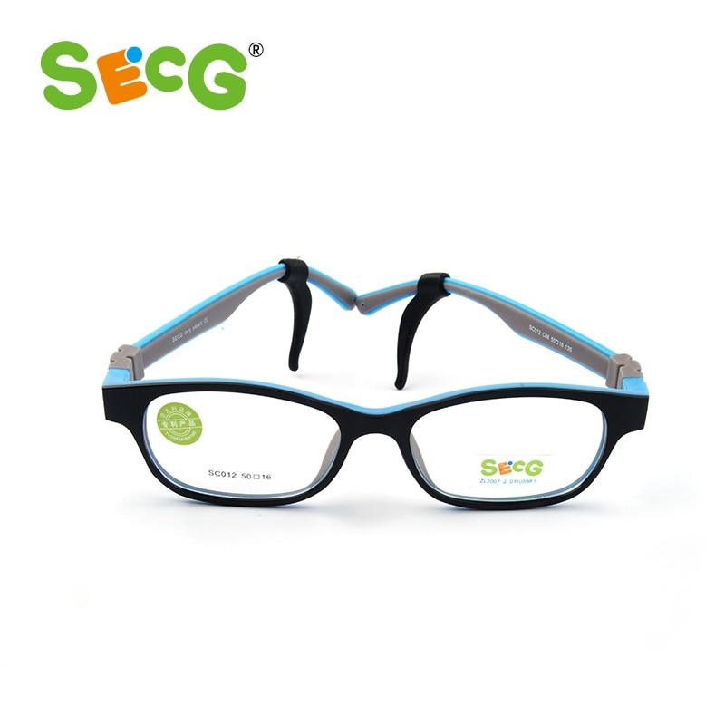 SECG Optical Children Glasses Frame TR90 Silicone Glasses Children Flexible Protective Kids Glasses Diopter Eyeglasses Rubber