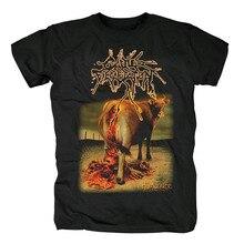 Bloodhoof крупного рогатого скота обеззараживание-Humanure Обложка Мужская blackgrindcore смерти Металл хлопок Футболка Азиатский размер