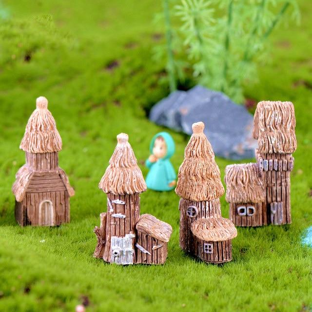 Vintage Craft Hot Sale 1PC Artificial Mini Micro Landscaping Miniature House Popular Garden Decoration Home Decoration 3