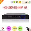 Sensor de Blue-Ray Hisiclion Exterior 4 Channel 1080 P Câmera de CFTV IP Onvif NVR 8CH 960 P de Vigilância Por Vídeo gravador Frete Grátis