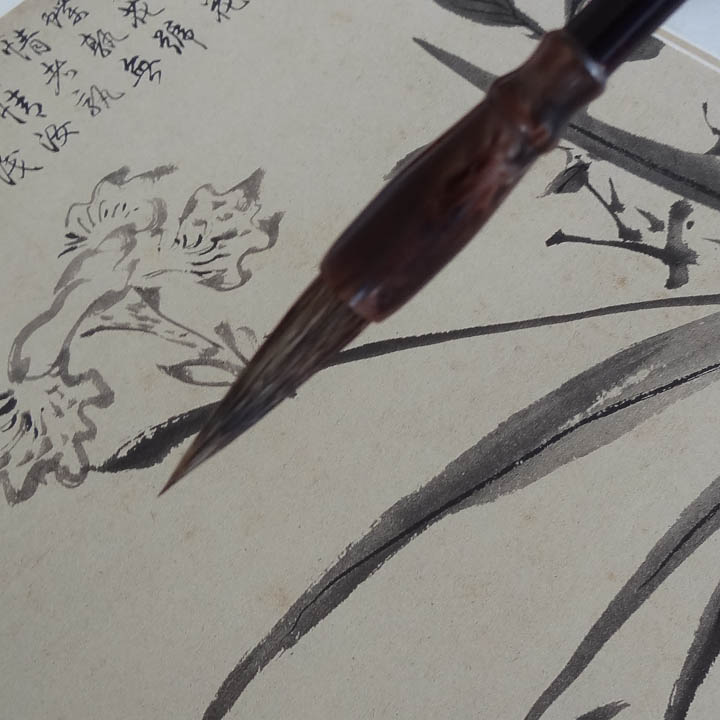 RUYANGLIU multifunctional writing brush badger hair for painting calligraphy medium regular script calligraphy painting
