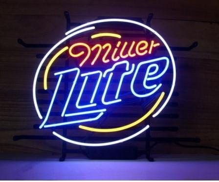 Custom Miller Lite Glass Neon Light Sign Beer Bar
