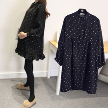 Maternity Shirts Wear Spring and Autumn New Pregnant Woman Long Sleeve Blouse Base Clothing Point Office Working