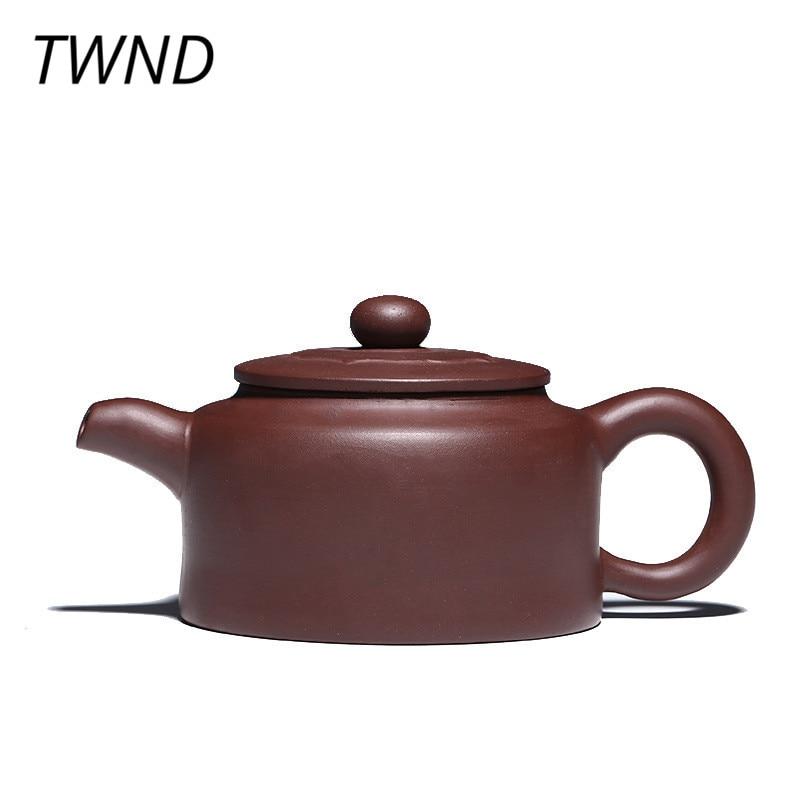 250CC yixing teapot de zhong tea pot chinese kung fu kettle with gift box purple clay drinkware suit black tea tie guanyin 16.4