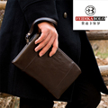 Mens Leather Clutch Wallets Men Zipper Business Purse Large Capacity Monedero Portefeuille Homme Carteira Masculina Luxury Brand