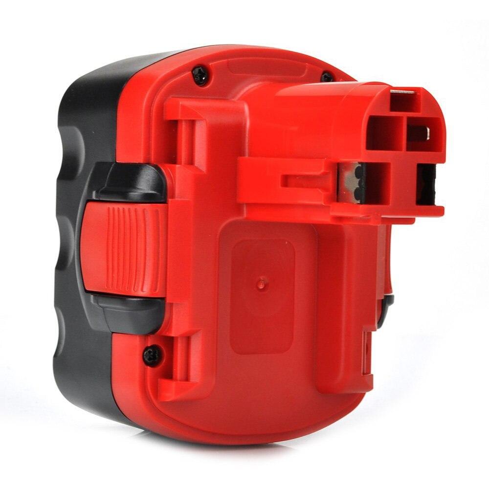 Paquet de 2 batteries de remplacement d'outils électriques pour Bosch BAT040 [14.4 V, 2.0Ah, NiCd], rouge et noir