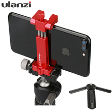 Ulanzi ST 03 Metal Tripod Mount Adapter for iPhone X 8 plus Samsung, Cold Shoe mount Support Rode Microphone/led video light