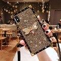 Блестящий чехол-ремешок для iPhone 11Pro Max  роскошный блестящий чехол со стразами для телефона iPhone 11Pro  чехол для девочек