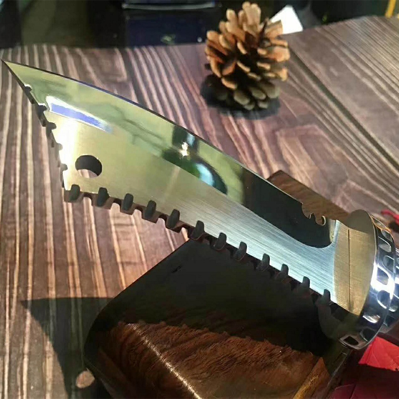 High Hardness TACTICAL GEAR OUTDOORS ARMY HUNTING KNIFE MACHETE Rambo Knifes Fixed Blade Knives Combat Survival Camping EDC Tool 3