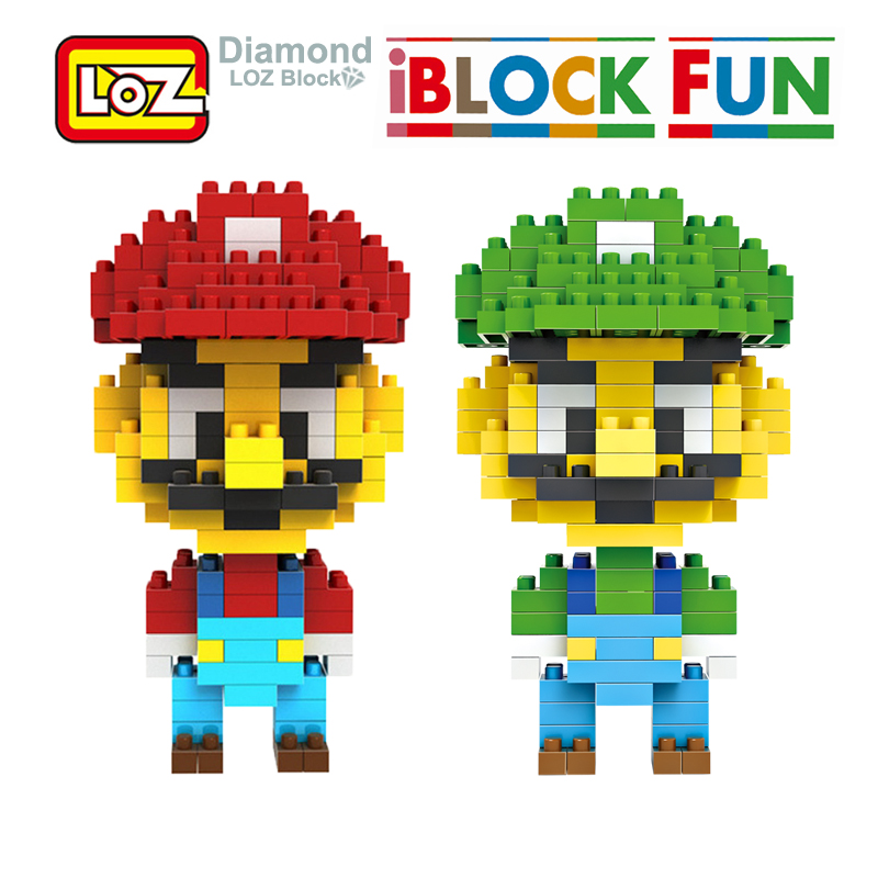LOZ Super Mario Bros Toy Figure Model Luigi Mario Yoshi Building Blocks Game 9+ Gift Toys LOZ NEW loz super mario kids pencil case building blocks building bricks toys school utensil brinquedos juguetes menino jouet enfant