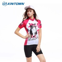 2017 New 5 style Summer Women Short Sleeve Cycling Jerseys Quick-Dry Bike Bicycle Sportwear Ciclismo Short Shirts