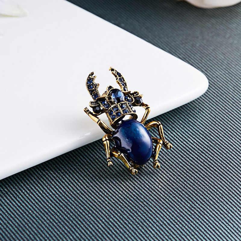Sogno Della Caramella di Strass Creativo Beetle Spille per Le Donne Smalto Spille Insetto Spilla Accessori Nuovo Arrivo Degli Uomini Gioielli di Moda