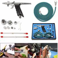 0 2mm 0 5mm Dual Action Airbrush Air Compressor Kit Craft Cake Paint Art Spray G