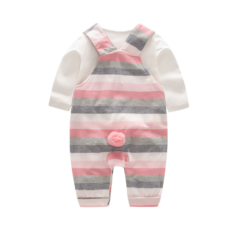 Image 3 - 2020 Fashion Baby Girl Clothes Sets Spring Autumn Clothing long sleeve Romper with hat Baby Set Clothes newborn clothesClothing Sets   -