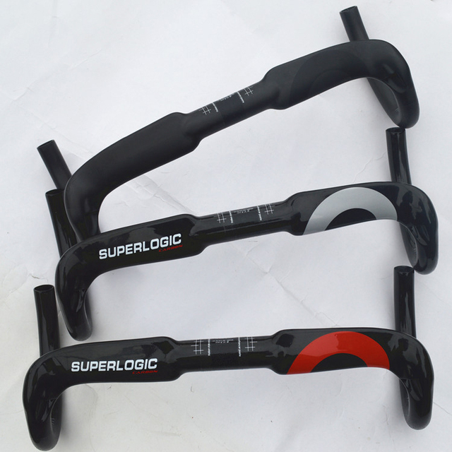 Superlogic Full Carbon Handlebar Bent Bar Drop Bar Ud Gloss Finish 40/42/44cm  Inner Cable Routing