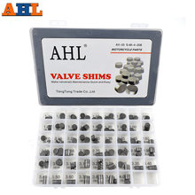 AHL 208pcs Motorcycle Engine Parts Adjustable Valve Pad Shims 9.48 mm Complete Valve Shim Kit Cams 1.2 ~ 4.0
