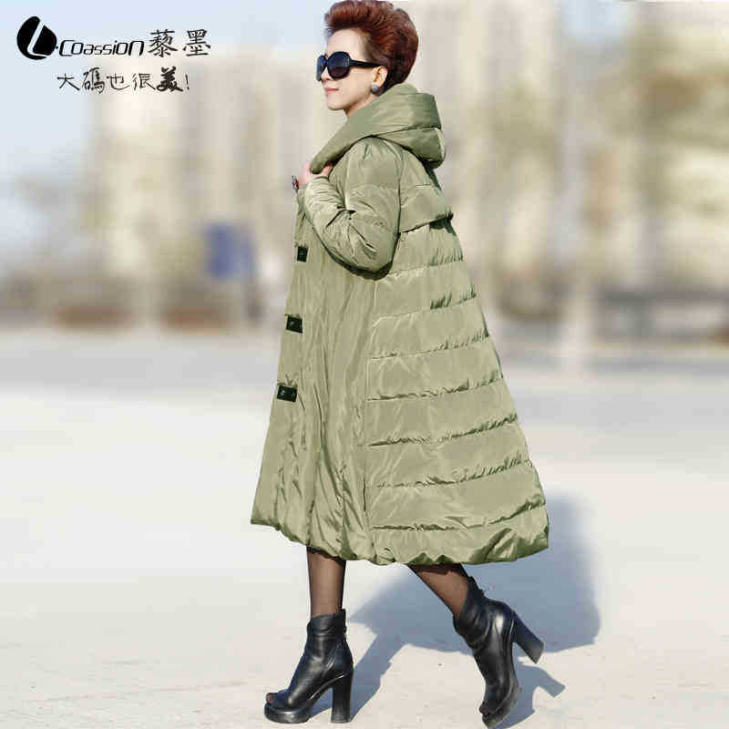 2015 New Hot Woman Down jacket Coat Parkas Outerwear Thicken Warm Luxury Hooded Loose Slim Mid Long Plus Size 4XXXXL