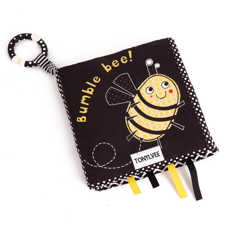 New animal tail cloth book baby early education insect animal cloth book children cloth book toy suitable for 0-2 years old