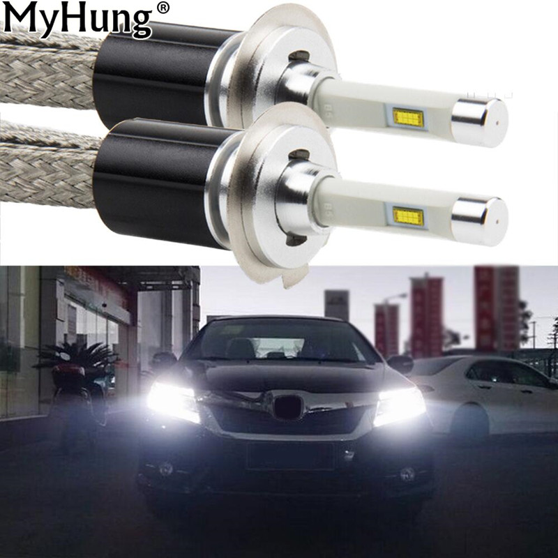 Car LED Headlight 80W 9600LM H1 H7 9005 9006 880 H11 H3 Conversion Kit Cars Fog Lamps RDL Light Bulbs Car-Styling Accessories