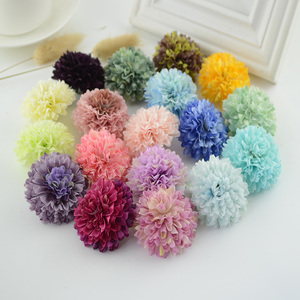 Image 1 - 100Pcs Silk Carnation Multilayer Artificial Flower cheap For Wedding Car Decoration DIY scrapbooking Fake Bridal wrist flower