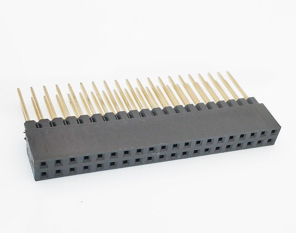 100pcs 2 54mm PC104 Female Header 2X16 20 25 32 40P PH11MM 8 5 2 5mm