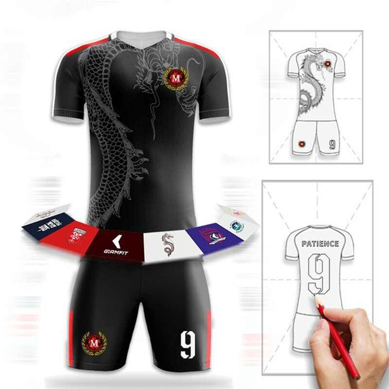 1b927e2c873 Soccer Jerseys Design Custom Football Uniforms Fully Sublimation Football Jerseys  Club College Camisetas Futbol Shirt Sportswear