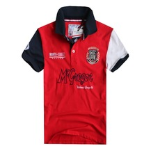 2016 MCGREGOR  MEN POLO SHIRT ORIGINAL CLASSICAL STYLE WITH HIGH QUALITY EMBROIDERY DESIGN SHORT SLEEVE FOR SUMMER COLLECTION