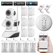 720 P Inalámbrica Wifi Cámara de Vigilancia de Seguridad CCTV Red de Trabajo Con sistema de alarma PIR Detector de control Remoto App para el hogar
