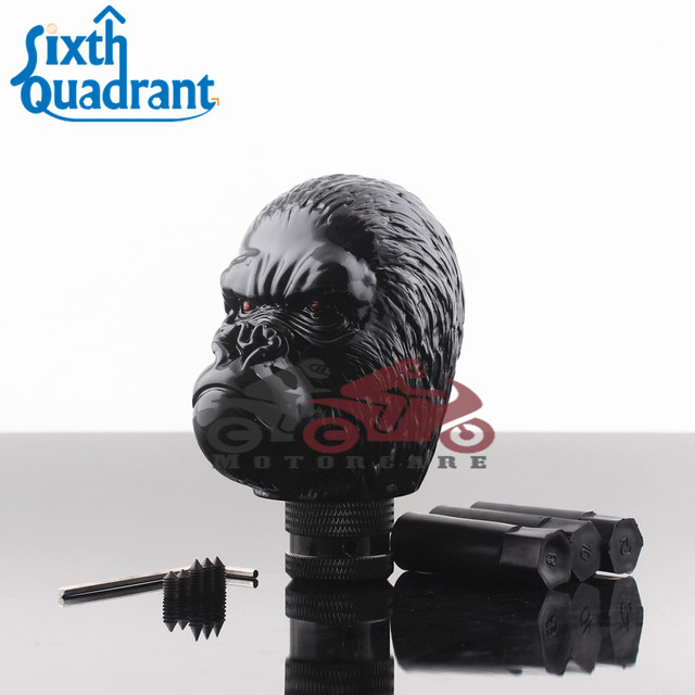 black gorilla king kong head style universal gear shift knob