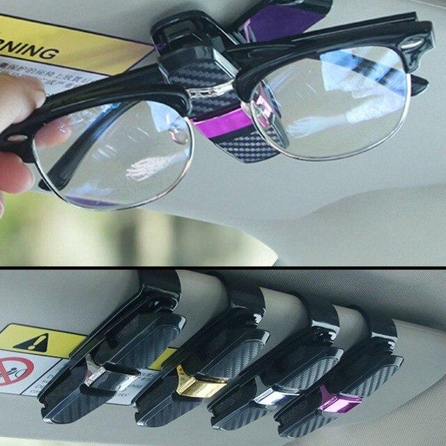 Portable Universal Fastener Clip Eyeglasses Clip Ticket Card Clamp ABS Car Glasses Cases Car Sun Visor Sunglasses Holder