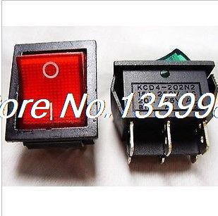 50 pcs DPDT voyant rouge interrupteur à bascule 6 broches