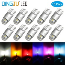 10pcs T10 W5W LED Car Light SMD 3030 Marker Lamp WY5W 192 501 Tail Side Bulb Wedge Parking Dome  Auto Styling DC 12V