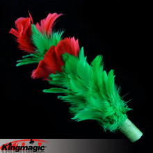 От одного до четырех цветов перо металлическая появляющаяся трость король Волшебные трюки игрушки-реквизиты электронная почта видео вам