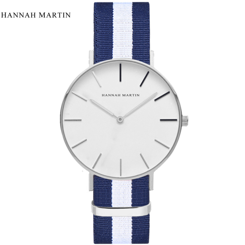 Brand Hannah Martin Watches Men Women Fashion Casual Sport Clock Classical Nylon Quartz Wrist Watch Relogio Masculino Feminino  new top brand watches men women fashion casual sport clock classical nylon male quartz wrist watch relogio masculino feminino