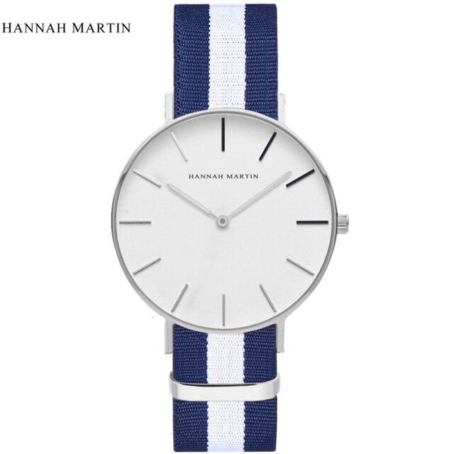 Reloj de pulsera de cuarzo de nailon clásico de estilo informal de moda  para hombre y be6a485a79c0