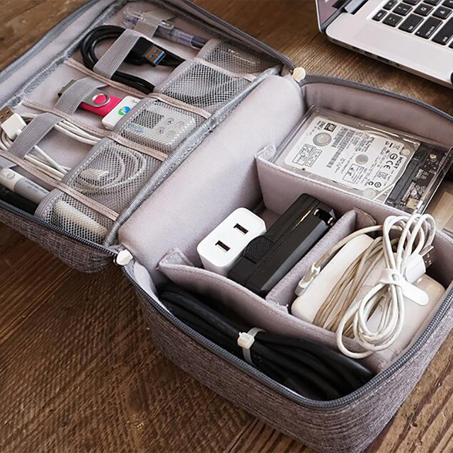 Travel Storage Bag Kit Data Cable U Disk Power Bank Electronic Accessories Digital Gadget Devices Divider Organizer Containers 2