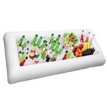 Service de table gonflable pour barbecue Bar fête Buffet glacière de glace Table de pique-nique salade plat boisson jardin Camping stockage en plein air