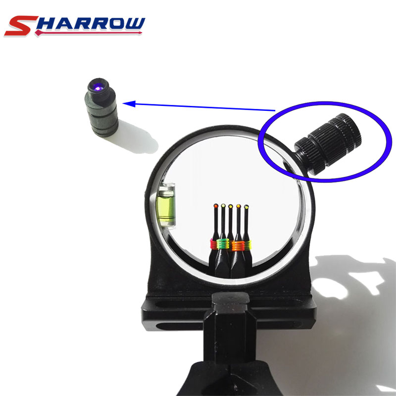 Sharrow 1 Piece Archery Compound Bow Sight LED Light Black Acccessories