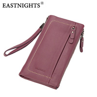 EASTNIGHTS New Women Wallets Brand Design High Quality Genuine Leather Wallet Female Clutch Fashion Long