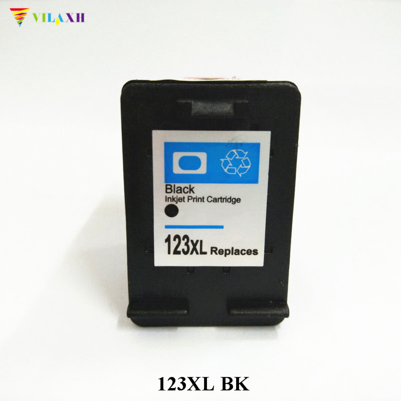Vilaxh 123xl Compatible Black Ink Cartridge Replacement For HP 123 xl 123XL Deskjet 2130 2132 3630 3632 1110 1111 1112 Printer