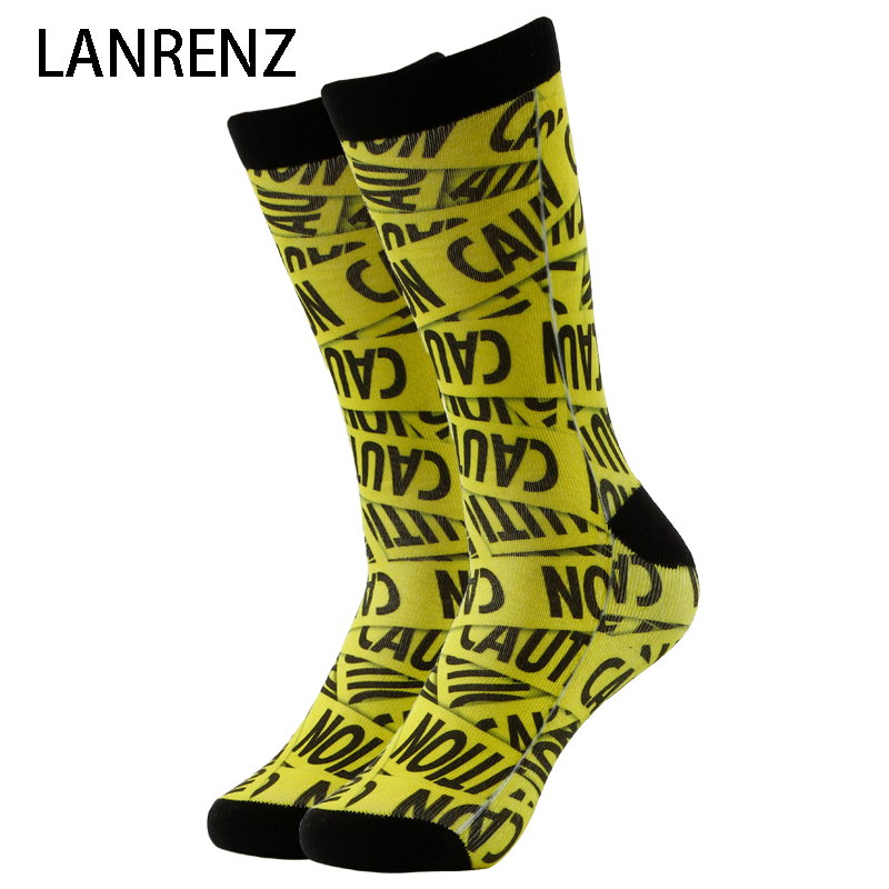 2019 Creative Street Sign Printing Men And Women Fashion Funny Socks 3d Printed Socks 200 Knitting Oil Painting Compression Sock