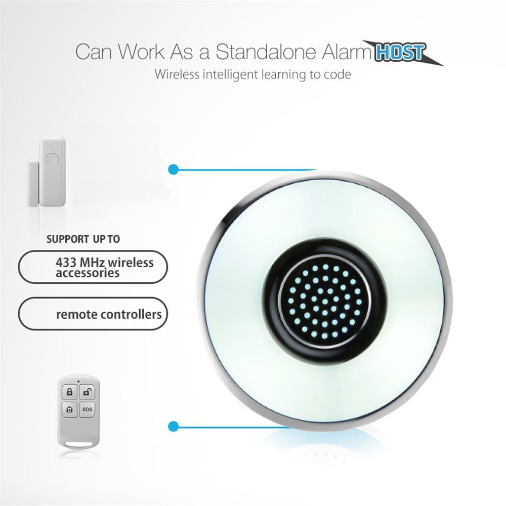 Smart Home 433Mhz Wireless 2 4G 120dB Wifi Alarm Siren Hub Security Alarm  Siren Support Sensors Tuya Smart Home Work With Alexa