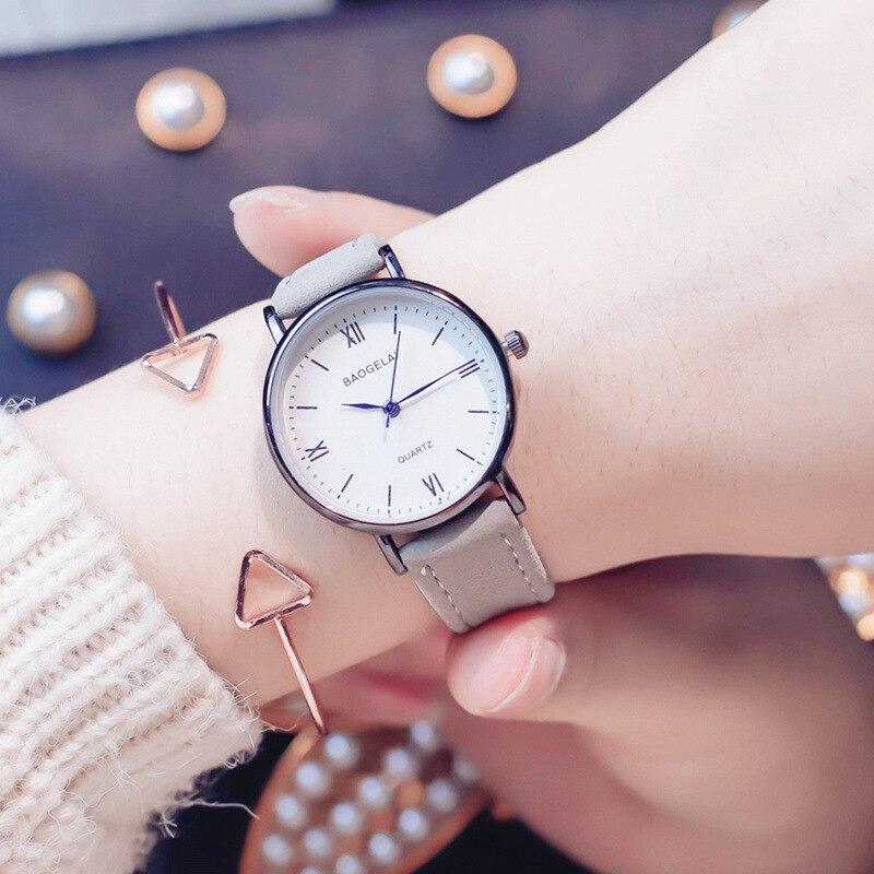 Ulzzang Brand Retro Roman Numerals Quartz Watch Woman