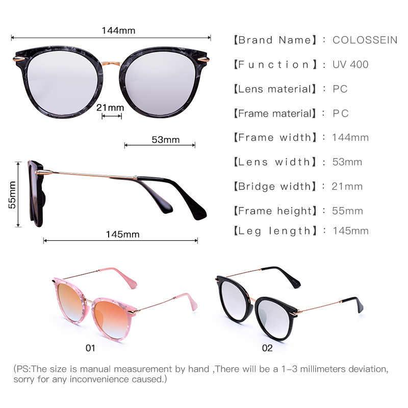 79d3b773e ... COLOSSEIN Cat Eye Sunglasses Women Black Pink Frame Flat Eyewear  Coating Vintage New Fashion Style oculos ...