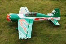 Zyhobby 85in/2159 мм Yak54 50cc газа RC модель самолета АРФ самолет зеленый США со
