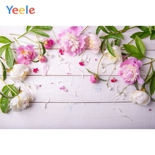 Yeele Vinyl Flowers Wood Board Children Birthday Party Photography Backdrop Wedding Photographic Background For Photo Studio